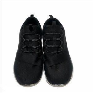 Skechers black memory foam dual lite sneakers 9.5